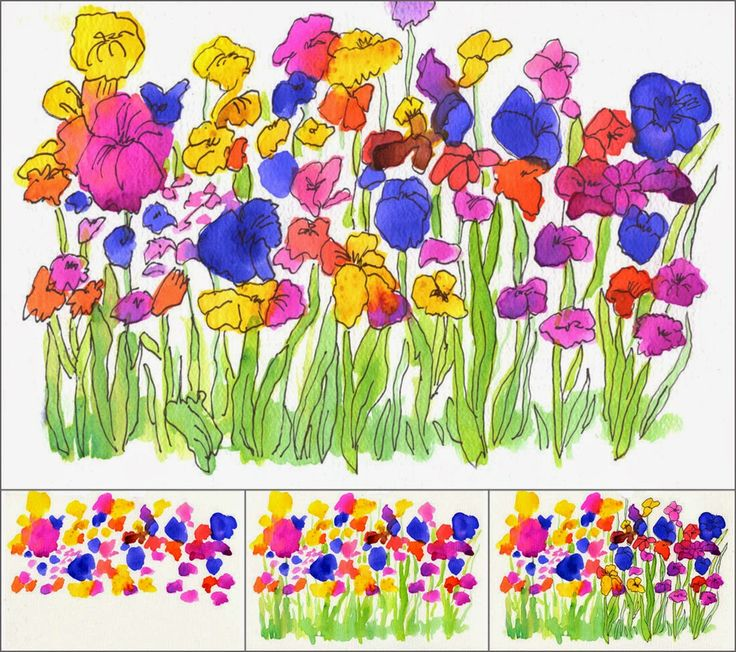 Watercolor Flower Garden - ART PROJECTS FOR KIDS