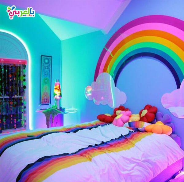 الوان غرف نوم اطفال جديدة دهانات غرف اطفال حديثة بالعربي نتعلم Rainbow Bedroom Rainbow Room Little Girl Rooms