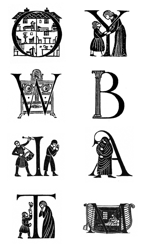Eric Gill initials | Book Design and Typography | Lettrine ...