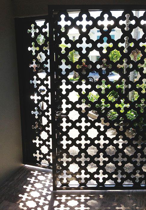 Bespoke Laser cut Screens, Security Gate, Residential