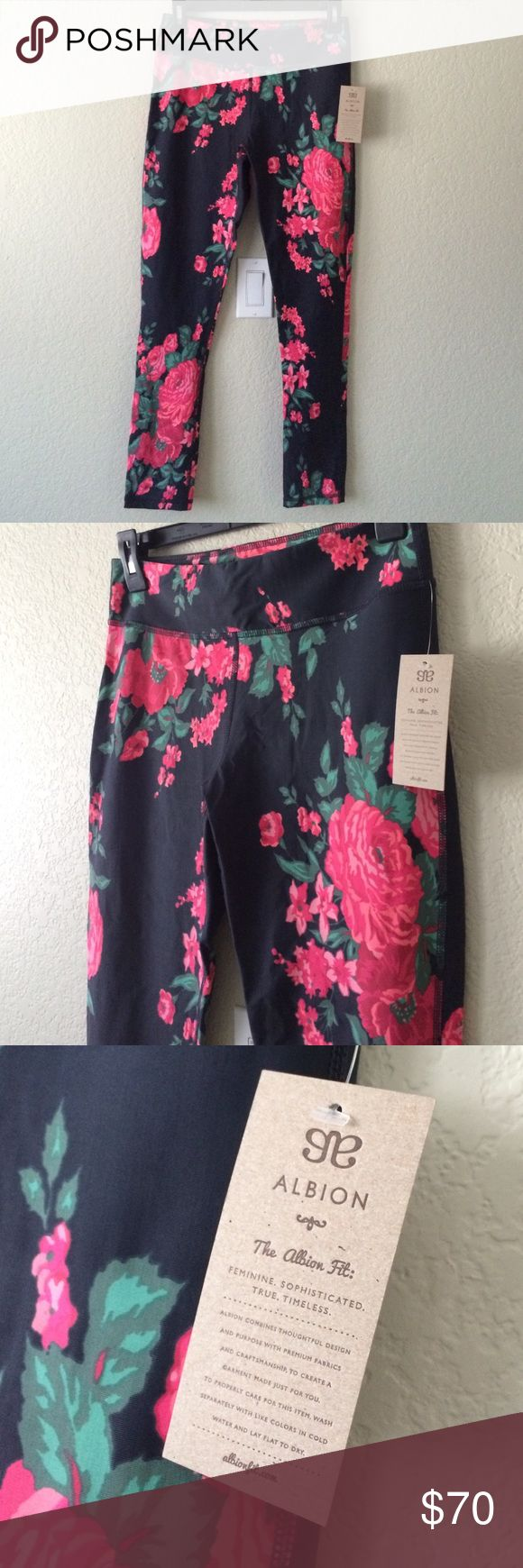Albion Fit Floral Workout Pants No trades, no holds, no modeling, posh only. Bundle for 20% off. Albion Fit Pants