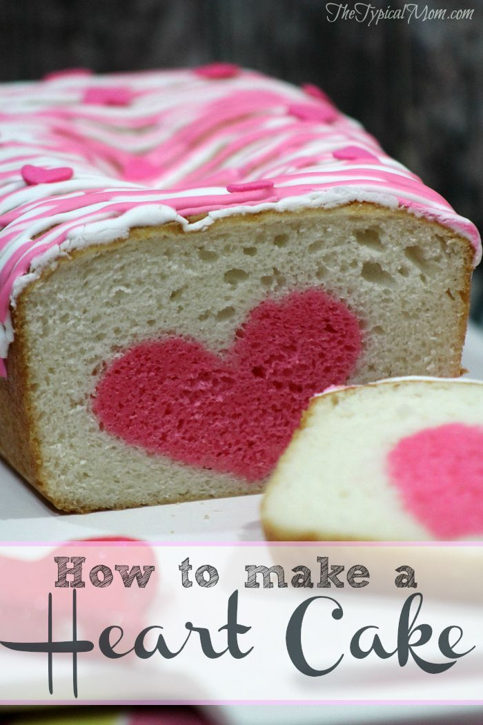 How to make a surprise inside cake! Make this heart shape for a Valentine's Day cake this year.