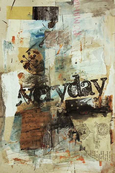 mixed-media collage art