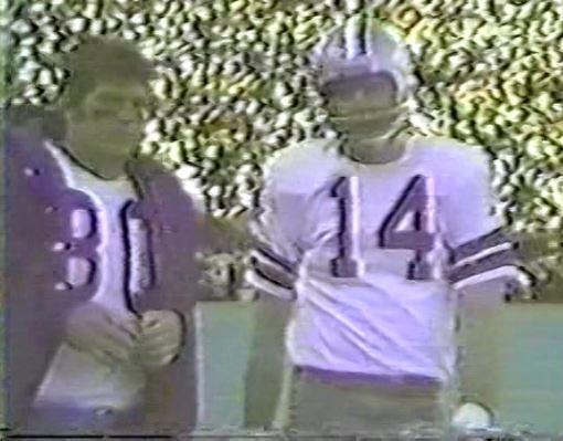 Running back DAN REEVES (30) and quarterback CRAIG MORTON (14)--December 26, 1970 (NFC Playoff)