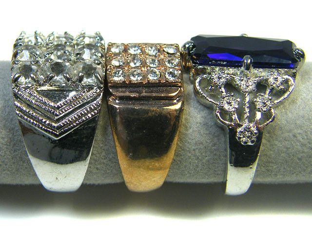 RE SELLERS DEAL THREE RINGS SIZE 6.5 -9.5  TR 803 PARCEL DEALS