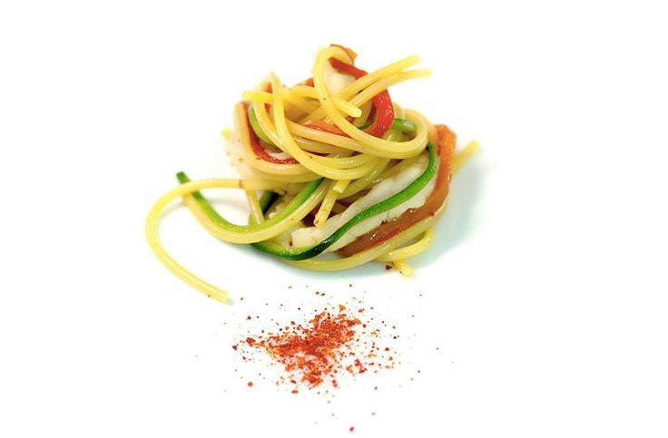 Spaghetti with Redfish & Zucchini - By Heinz Beck
