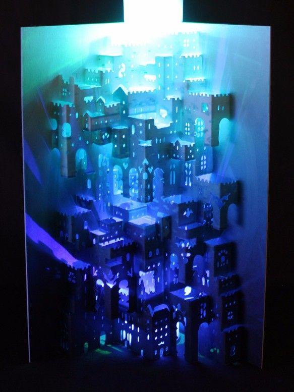 組立済【細密ポップアップカード】 アトモスフィア 立体・オブジェ cocoro ハンドメイド通販・販売のCreema