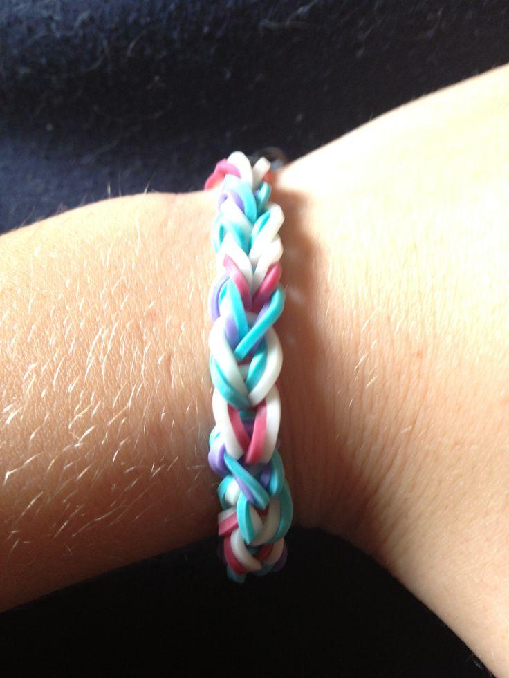 Double single rainbow loom bracelet
