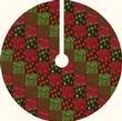 Make a Christmas Tree Skirt from a 70-inch round Tablecloth, so easy!