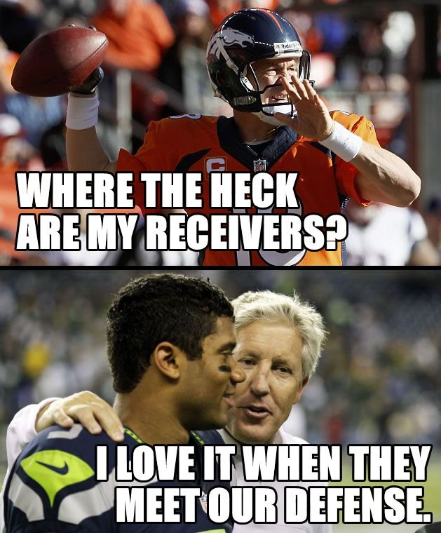 Manning meets the Seahawks Defense!  #seahawks #broncos #peytonmanning #football #superbowl