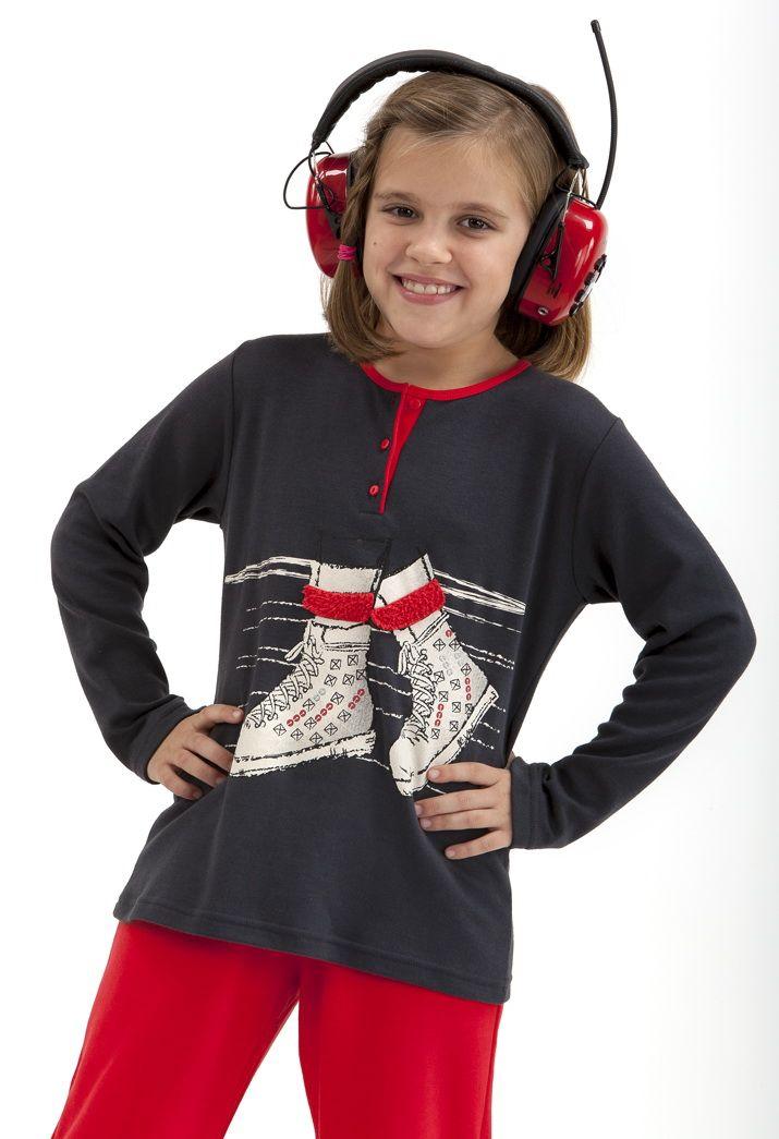 Pijama en niña punto Massana