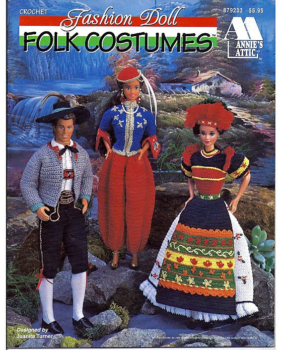 Barbie will fit right in with these traditional crochet folk costumes from around the world. Theres an Algerian Dancer outfit, Hungarian