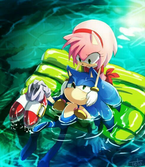 Fear Of Water | Sonic, Sonic the hedgehog, Sonic and amy