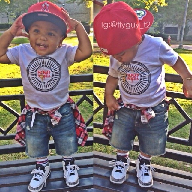 My boys dress like this but they don't wear fitted they have too much curls on their heads