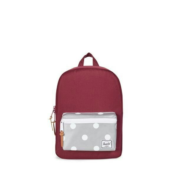 77d20d88b3 Herschel Supply Co. Settlement Kids In Windsor Wine Polak Dot Nwt. Little  America Backpack