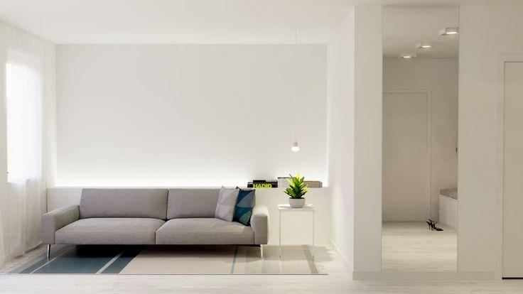 Salon w bieli. White living room.