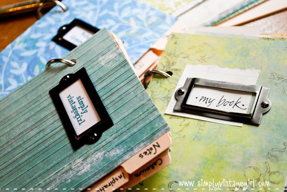 DIY notebooks made with tabbed index cards and mini memo books.  Inexpensive and cute!