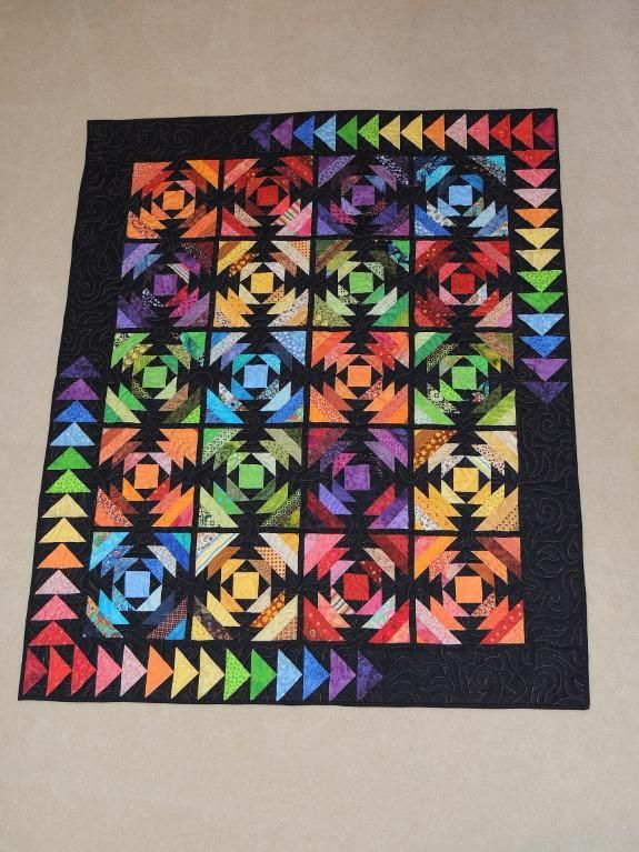 Rainbow Pineapple Quilt