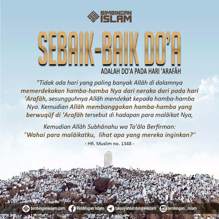 Sebaik-baik doa adalah pada hari arafah