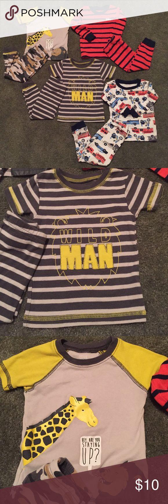 Pajamas 4 two piece sets of baby boy pajamas Carter's Pajamas Pajama Sets
