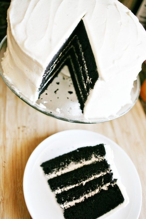 "BLACK velvet cake! (Perfect for ""Over the Hill"" party or Halloween!)"