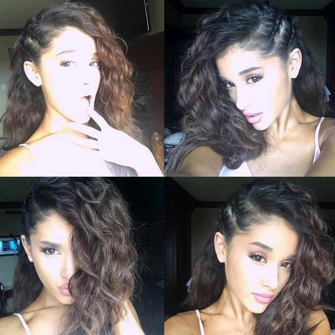 Ariana Grande Instagram of real hair