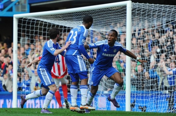 2012-03-10 #Chelsea 1-0 Stoke City. #Drogba's 100th Premier League goal was the difference.