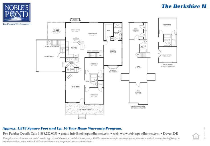 The Berkshire II's Floorplan at Noble's Pond
