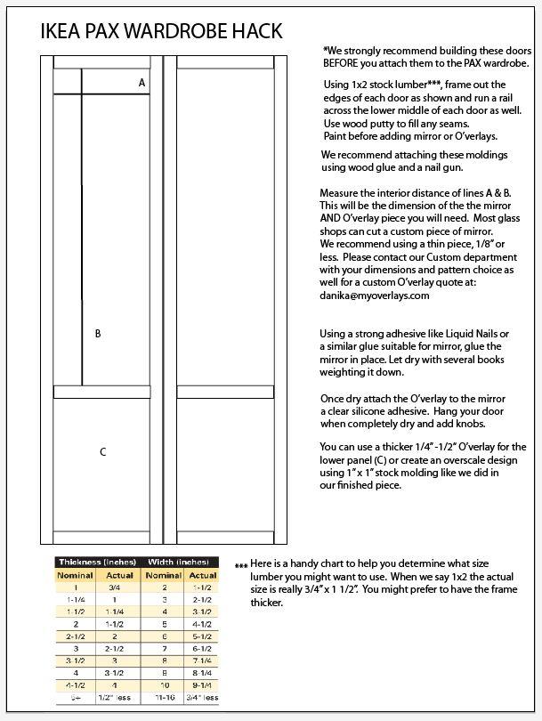 Dimensions Pax Ikea