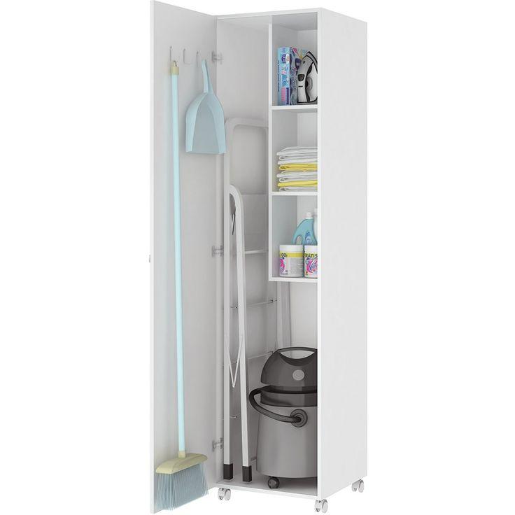 Armário para Lavanderia 1 Porta Branco - Art In Móveis - Submarino.com.br