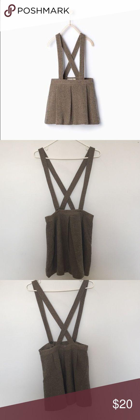 Zara girls skirt with braces Super cute tweed skirt with braces for an older girl. Worn once! Zara Bottoms Skirts