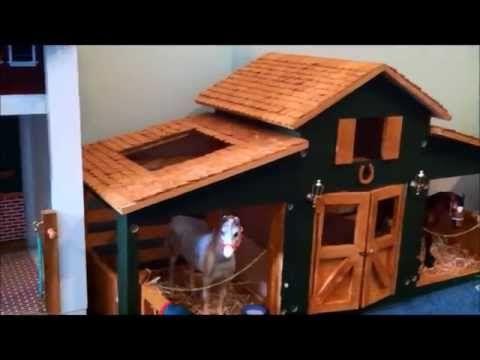 Tour Of Custom Breyer Barn Youtube Awsome Fun Horse
