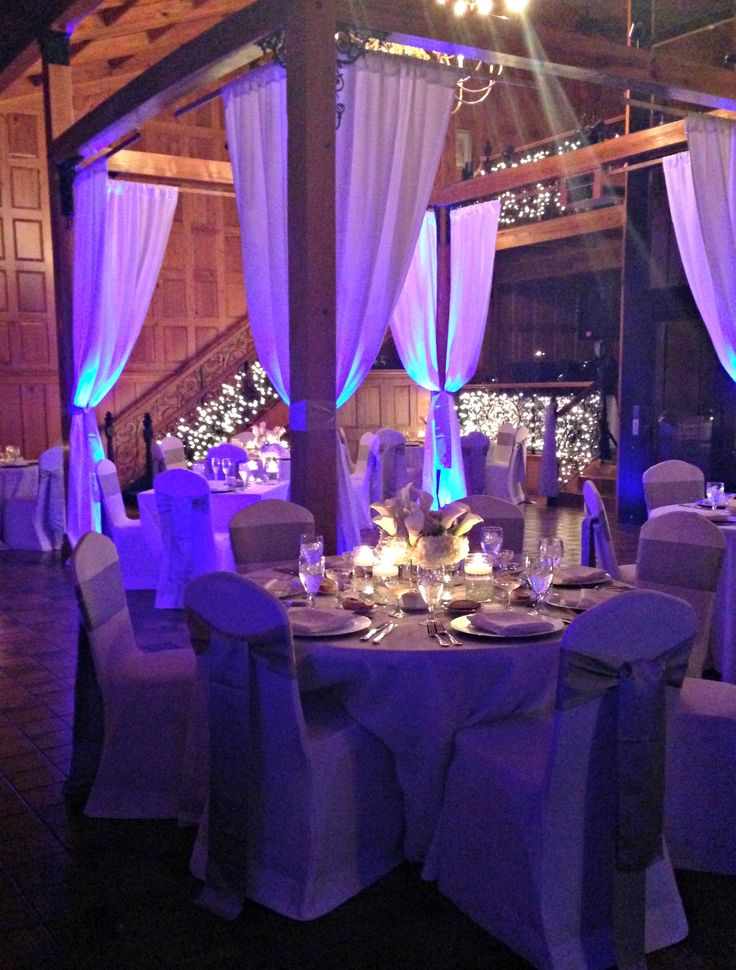 Drapery And Uplighting In The Tavern At The Estate On The