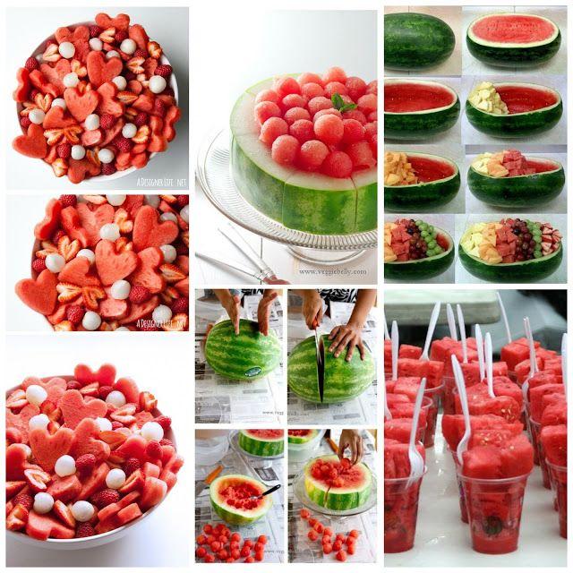 donneinpink magazine: Come tagliare e servire l'anguria.