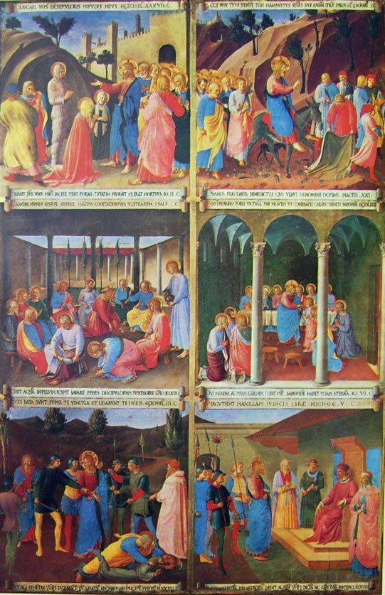 Beato Angelico: Armadio degli argenti - una anta dipinta con le narrazioni evangeliche, 118 x 75 cm., Museo Nazionale di San Marco a Firenze.