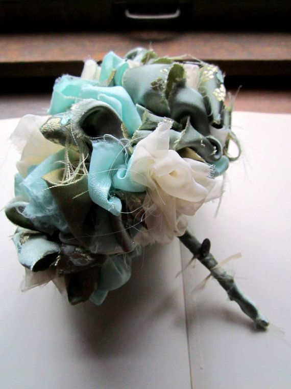 Vintage Fabric Flower Bouquet Me And My Momma Are Going To Get LOTS Of Practice