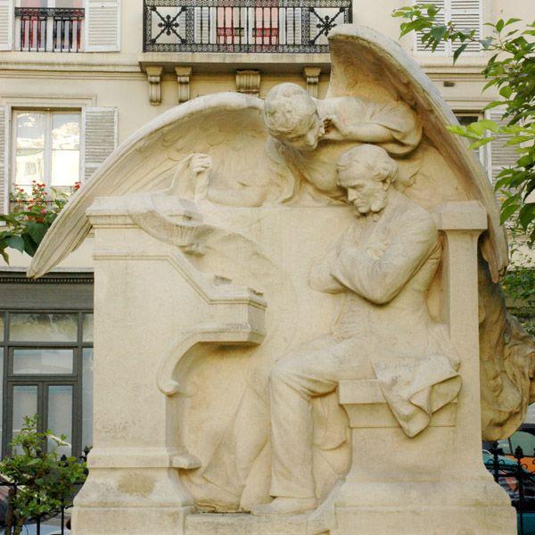 Square Samuel Rousseau,   Monument à César Franck (Alfred Lenoir, 1891), Paris VII