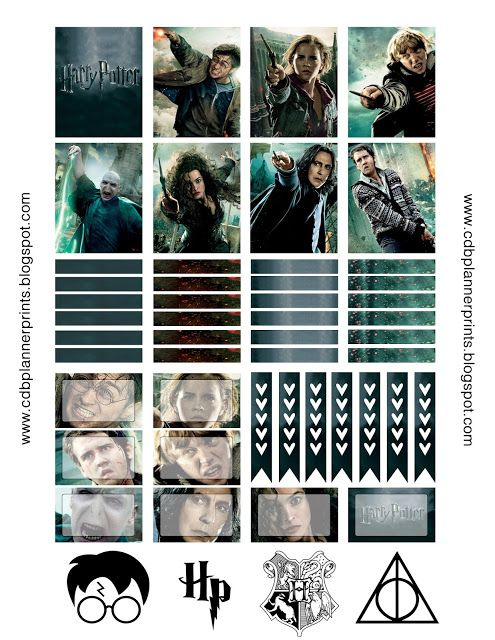 CDB Planner Prints: Halloween Harry Potter