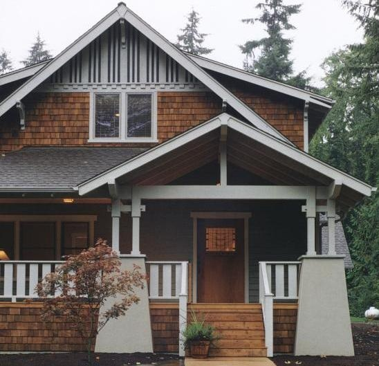 Cedar Shingles And Green White Craftsman HomesCraftsman StyleBungalow
