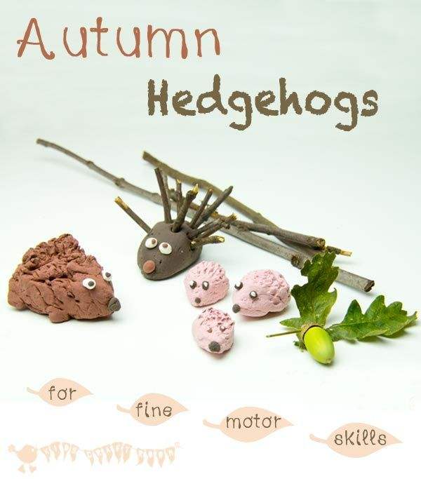 Make a Cute Hedgehog Family – A fun Fall craft for kids and a great way to develop fine motor skills.