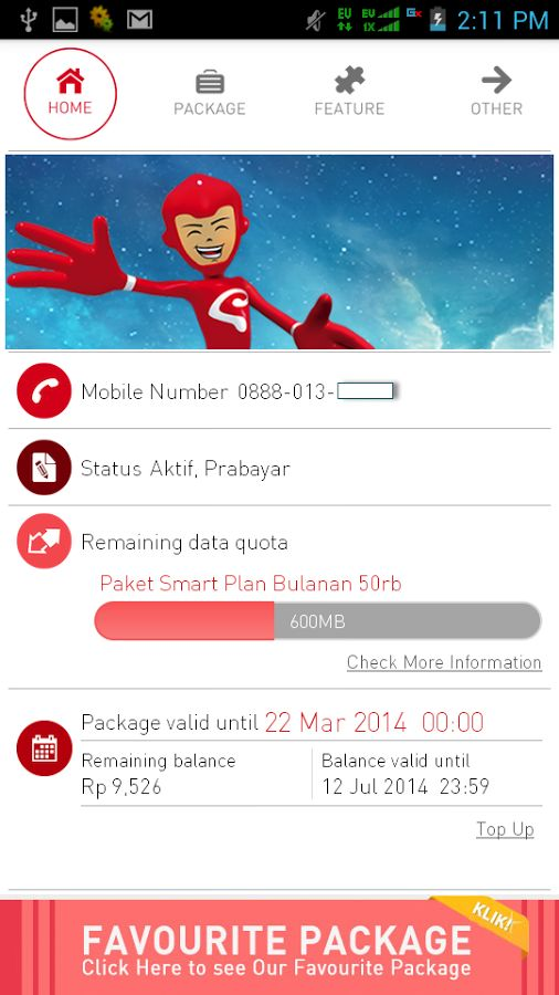 Smartfren Customer Info v.5.0.0 APK DOWNLOAD | Bocil Android News http://bocilandroid.blogspot.com/2014/07/smartfren-customer-info-v500-apk.html