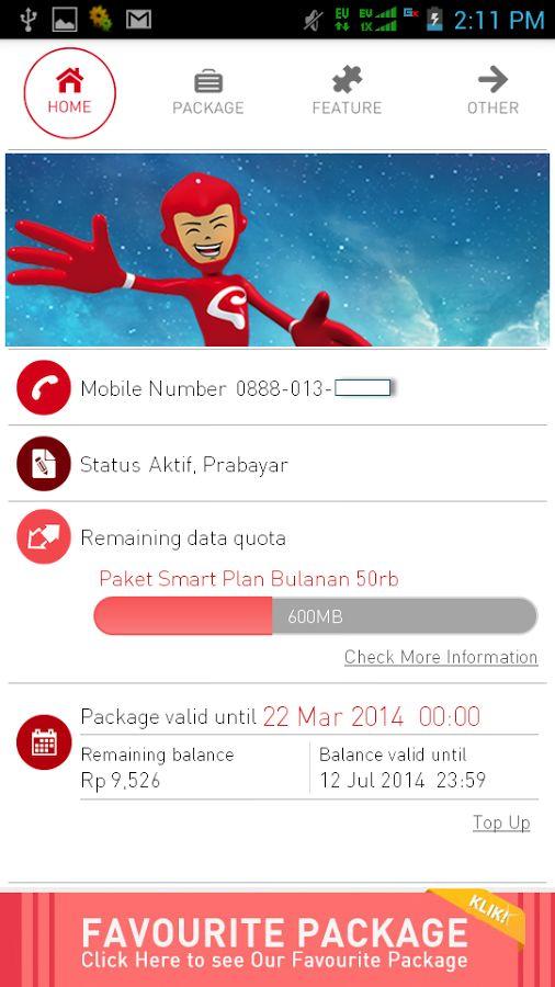 Smartfren Customer Info v.5.0.0 APK DOWNLOAD   Bocil Android News http://bocilandroid.blogspot.com/2014/07/smartfren-customer-info-v500-apk.html