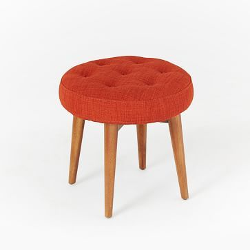 Mid-Century Upholstered Stool #westelm This is Cayenne color
