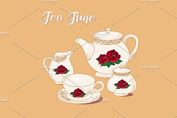 English Tea Time by barsrsind on @creativemarket