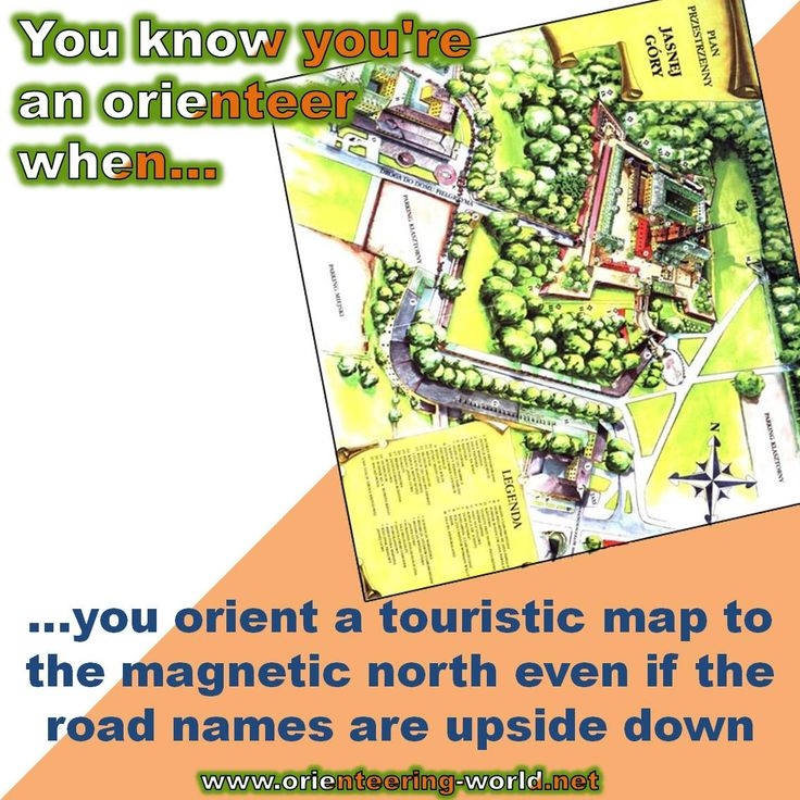 ...you orient a touristic map to the magnetic north even if the road names are upside down.