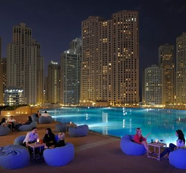 The Address Dubai Marina. Loved this rooftop bar, wish I could go back