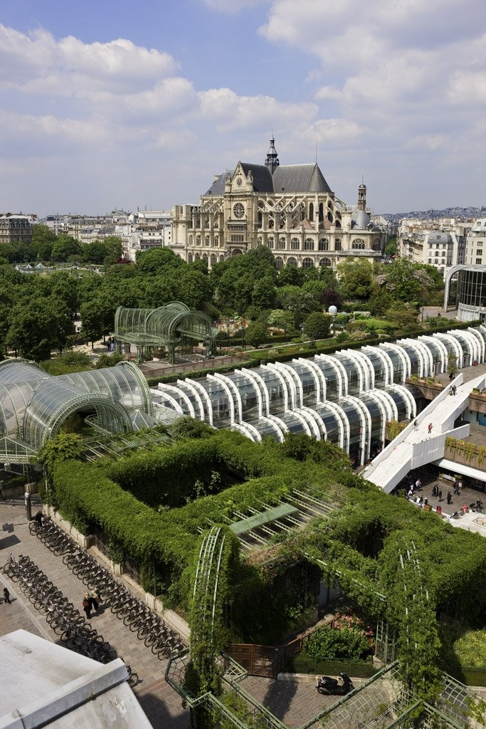 This is what we call a green paradise within the city. @ Novotel Paris Les Halles