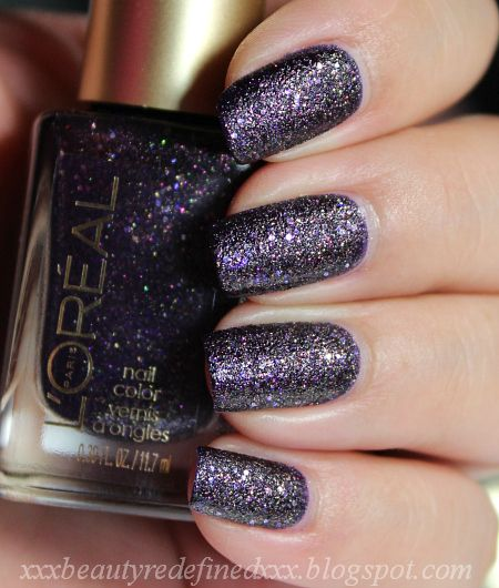 L'Oreal- Sexy in Sequins (Gold Dust Textured Nail Polish), have and can't wait to try