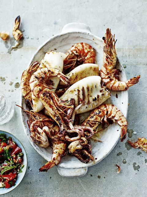 Grilled shrimps and calamaries, Martin Poole