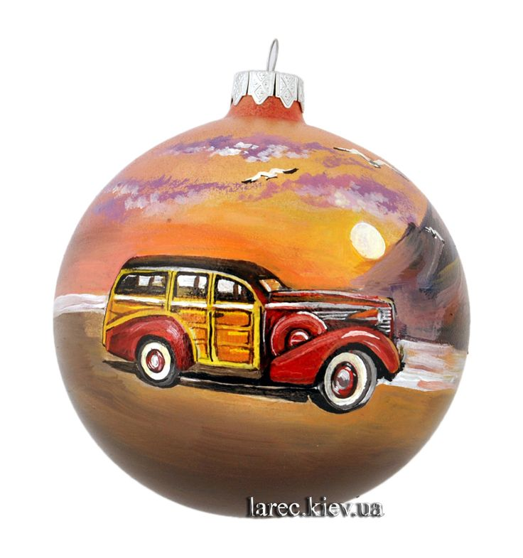 "Подарок Коллекционный шар на ёлку ""Buick Century Estate Wagon"""